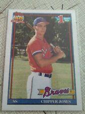 1991 Topps CHIPPER JONES #333 ROOKIE CARD-HOF Atlanta Braves