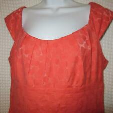 London Times Orange-y Melon Polka Dot Dress sz 12