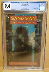SANDMAN #8 CGC 9.4 (NM) 1ST DEATH APPEARANCE NEIL GAIMAN 1989 KEY AMAZON TV