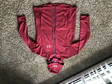 Mens Under Armour Loose Cold Gear Zip Up Sweatshirt Red Medium