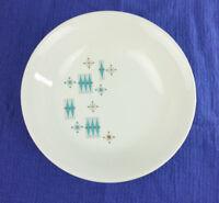 Sabin Blue Moderne USA23 Soup Cereal Bowl Atomic MCM Turquoise Snowflake 1950s