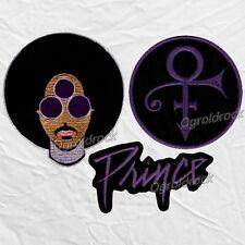 Set Prince Embroidered Patches Love Symbol Purple Logo HitnRun Phase 1 Pop Rock
