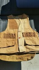 Mens Vintage  Nesco Cotton Canvas Hunting Sportsman shooting Vest Jacket Medium