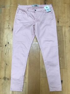 BNWT DENIM CO SKINNY MID RISE Ladies Pink Stretch Trousers @ Size UK16 EU 44 NEW