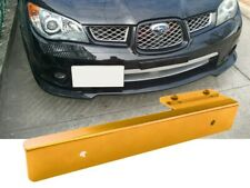 Yellow Offset Bumper Front License Plate Mounting Bracket Plate for VW Porsche