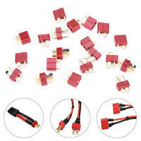 20X 10 Pairs T Plug Male & Female Connectors Deans Style For Rc Lipo Battery ZT
