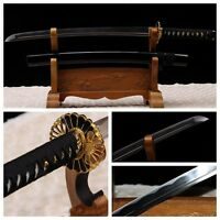 Japanese Samurai Sword Katana Wakizashi Carbon Steel Razor Sharp Battle Ready