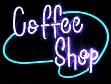 """Coffee Shop Cafe Open 17""""x14"""" Neon Sign Lamp Light Beer Bar With Dimmer"""
