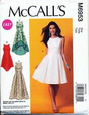 MCCALL'S SEWING PATTERN 6953 MISSES SZ 14-22 FIT & FLARE DRESS W/ PLEATED SKIRT