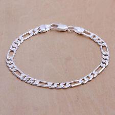 BRACCIALE DONNA figaro-panzerkette 5 mm 20cm pl. con argento sterling DA219