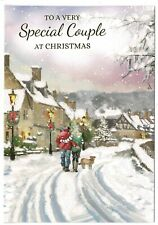 Special Couple Christmas Card With Festive Scene
