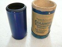 RARE 1937 COLUMBIA PHONOGRAPH BLUE AMBEROL WAX CYLINDER RECORD: SILV'RY BELLS