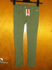 Kanz Cotone Rich Skinny Stretch Pantaloni 7yrs 122 cm verde scuro nuovo con etichetta