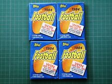 Four 1984 Topps Football Wax Pack lot Fresh from case Elway Marino Rookie?
