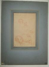 Eugène CARRIERE - (ENFANTS au biberon) - DESSIN original à la SANGUINE 19ème