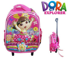 Dora The Explorer Travel Suitcase Girl Kids Toddler Luggage Trolley School Bag