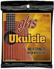 GHS H-100 Ukulele Strings Nylon With Tie Ends (Baritone Wound)