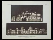 L'ARCHITECTE 1929 PARIS 9 AVENUE PERCIER, KHARKOV, DERZHPROM GOSPROM, SERAFIMOV