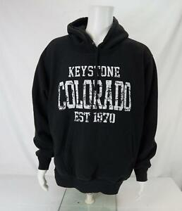 VTG - MV Sport Pro Weave Keystone Colorado Hoodie Sweatshirt Black Men's X-Large
