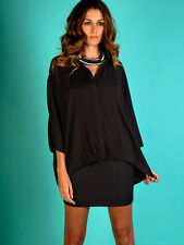 Lace 3/4 Sleeve Casual Solid Tops & Blouses for Women
