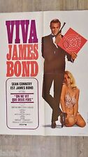 james bond ON NE VIT QUE DEUX FOIS ! sean connery affiche cinema 007 vintage 70