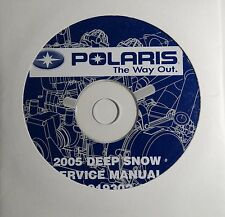2005 POLARIS SNOWMOBILE DEEP SNOW SERVICE MANUAL CD P/N 9919302-CD  (406)