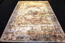 Alter Handgeknüpfter Perser Orient Teppich China Seide Old Rug Vintage 300x200cm