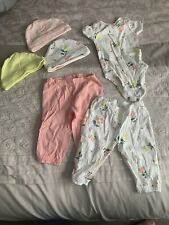 Carter's 3 Month Baby Girl Outdit - One Piece With 3 Hats And 2 Pairs Of Pants