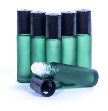 10ML EMPTY GLASS ROLL ON BOTTLE LIQUIDS ESSENTIAL  PERFUME OIL- GREEN BOTTLES