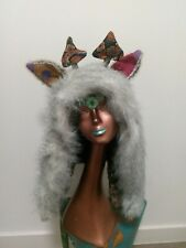 Ladies Men's Faux Fur Animal Spirit Hoods Hat trendy festival warm trippy