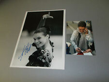 Katarina Witt skating sexy signed autograph Autogramm 8x11 inch photo in person
