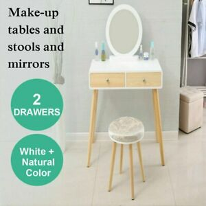 Bedroom Eco-friendly Dresser Mirror Solid wood Makeup Home Furniture Table