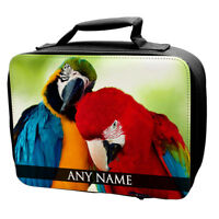 Personalised Birds Animals Lunch Bag School Kids Eagles Pigeon Robin Cockatoo