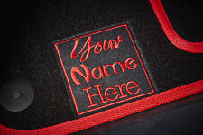 Personalised/Customised SUPER VELOUR Car Mats - Universal Fit - Colour Choice