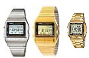 Casio Unisex Digital Data Bank Quartz Watch,Gold/Silver DB-380 12 Months warrant