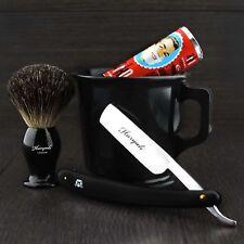 OLD BARBER STYLE Classic Shaving Starter kit MUG BRUSH SOAP AND RAZOR Gift Set.