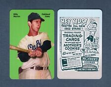 BILLY MARTIN, 1947-9 Oakland Oaks~PCL FIRST PRINTING color card Carl Aldana 2017