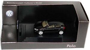 VERY RARE VW POLO 6R V TDI TSI 2009 3 DOOR DEEP BLACK 1:87 HERPA (DEALER MODEL)