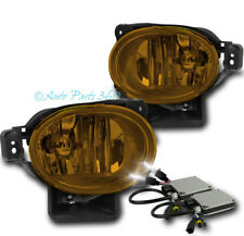07-08 ACURA TL BASE TYPE-S BUMPER DRIVING FOG LIGHTS LAMP YELLOW W/6000K HID KIT