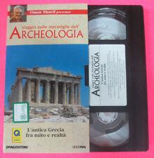 VHS film L'ANTICA GRECIA FRA MITO E REALTA' viaggio archeologia (F107)no dvd