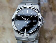 Seiko Men's 36mm Made in Japan 1970s Stainless Steel  Luxury Quartz Watch yy55
