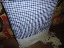 Liz Claiborne Cornflower Blue & White Plaid (1) Queen Flat Sheet 87 X 104 Cotton