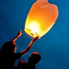 10 White Chinese Paper Lantern Hot Air Sky Flyer - Candle Lamp Wish Balloons