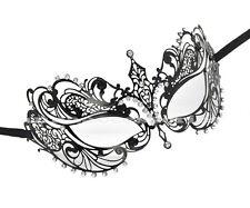 Party Mask Laser-cut Metal Venetian Black mask