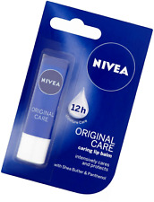 Nivea Essential Care Lip Balm 5g With Shea Butter & Panthenol Face Creams 12hour