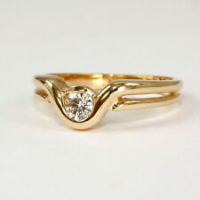 Reinheit SI Echte Diamanten-Ringe aus Gelbgold mit Brilliantschliff