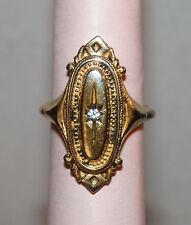 Charming Vintage 1976 AVON KENSINGTON Antiqued Gold Victorian Style RING--sz 7
