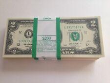 US Two Dollar Bills ($2 bill)- Uncirculated, Crisp $2 Bills
