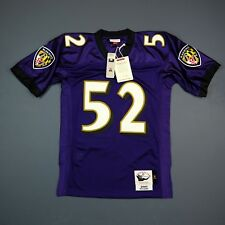 100% Authentic Ray Lewis Mitchell & Ness Ravens NFL Jersey Size Mens 44 L Large