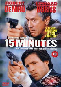 15 Fifteen Minutes DVD Robert DeNiro Action Movie 2001 Edward Burns